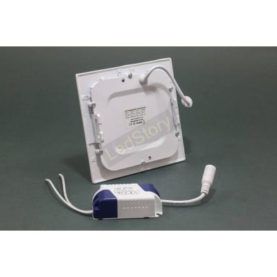 Светодиодный светильник 6W 220V квадрат 4000К нейтральный
