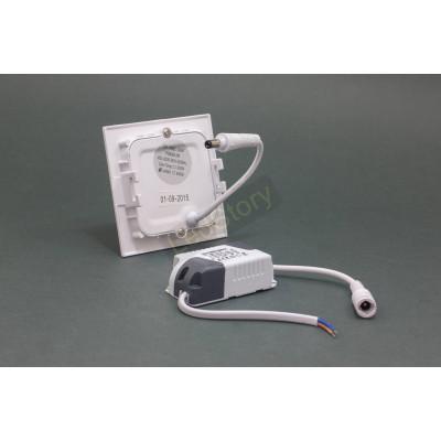 Светодиодный светильник 3W 220V квадрат 210Лм 4000К нейтральный