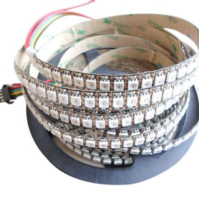 Светодиодная лента WS2812b RGB SMD 5050 5V 144 д.м. IP20 WS2812b PIXEL (цена 1м) черная основа