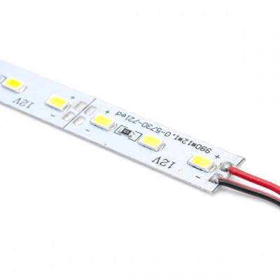 Светодиодная линейка SMD 5730 72LED/m, 12v, негерметичные IP20, 6000К белый яркий