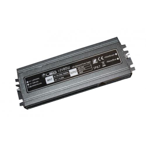 Блоки питания 12В-80Вт 6,67А герметичный ,ультратонкий