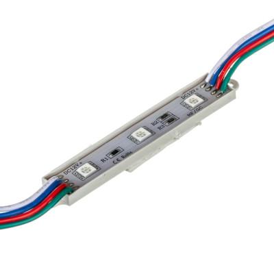 Светодиодный модуль RGB 12V 0,72W SMD5050 3LED IP65