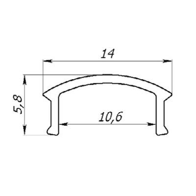Рассеиватель матовый ПРЕМИУМ для LED профиля (ЛП7, ЛПВ7, ЛПУ17, ЛП12, ЛПВ12, Z200 ) 2м (цена 1м)