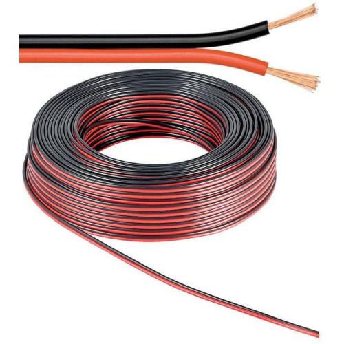 Плоский кабель 2х0,25мм2 для светодиодной ленты ( МЕДНЫЙ )