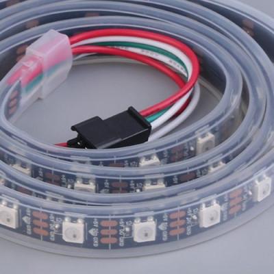 Светодиодная лента RGB SMD 5050 60 LED/m, RGB RW 1LED IP67 WS2812b PIXEL STRIP ч чёрной подложкой (цена за 1 м)