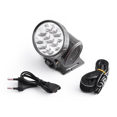 Фонарик налобный LED с аккумулятором 1898 13LED