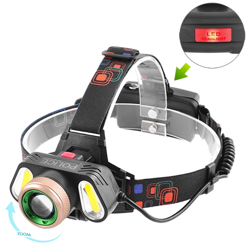 Фонарик налобный LED с акумулятором на лоб 5300 T6+2COB
