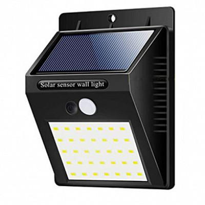 Настенный уличный светильник на солнечной батарее с датчиком движения 6014 35 SMD