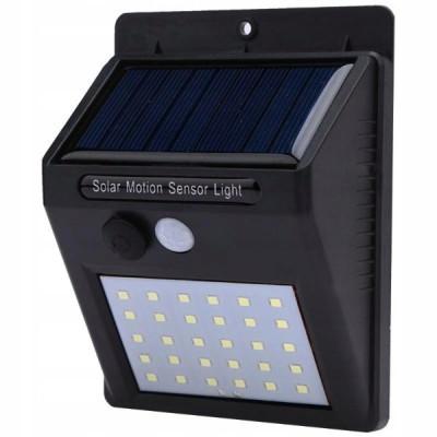 Настенный уличный светильник на солнечной батарее с датчиком движения 6009 30 SMD
