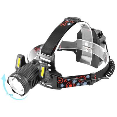 Фонарик налобный LED с акумулятором на лоб 6000 T6+2COB