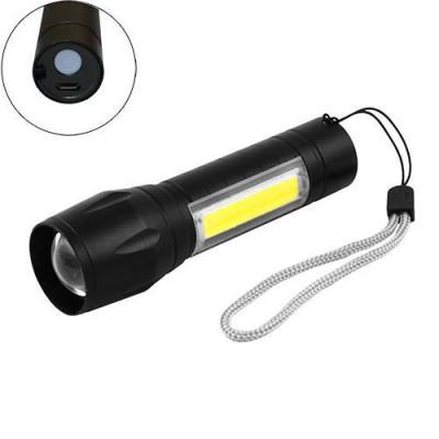 Светодиодные фонарики аккумуляторные 8424 XPE+COB zoom
