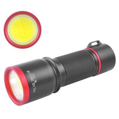 Светодиодные фонарики 1537 15W COB под батарейки 3АА/аккумулятор