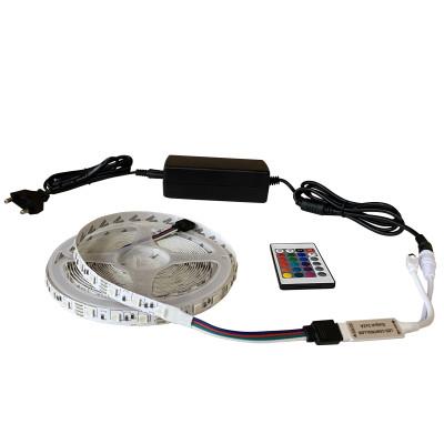 Набор светодиодной ленты SMD 5050 (60 LED/m) IP20 RGB 5м + блок питания + контроллер