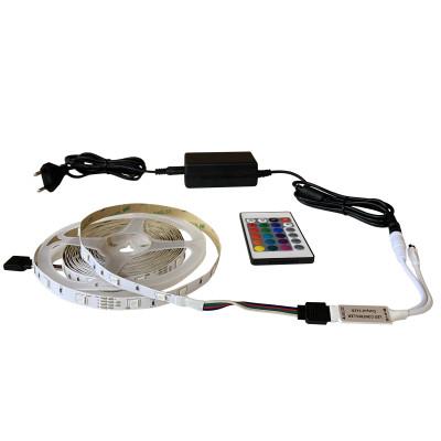 Набор светодиодной ленты SMD 5050 (30 LED/m) IP20 RGB 5м + блок питания + контроллер