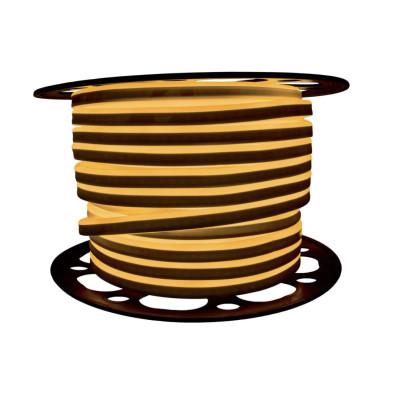 Неоновая лента AVT 2835 7W,120 д.м. (IP65) 220В 8x16мм желтый (цена 1 м) (53)