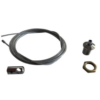 Тросик для подвесного монтажа освещения 1,2м ( 1шт)