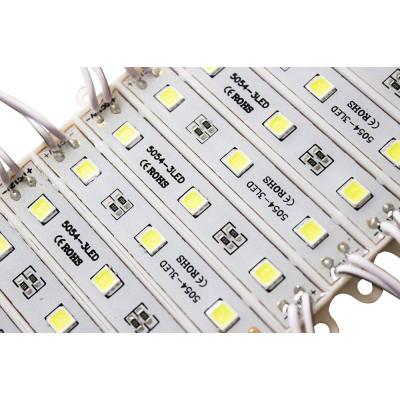 Светодиодный модуль SMD5054 CW 6500К  супер-яркий