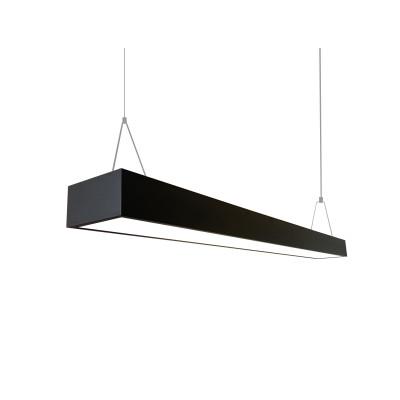 Подвесной светильник под две лампы Т8 120см (3000-5400Люмен ) черный (металл)