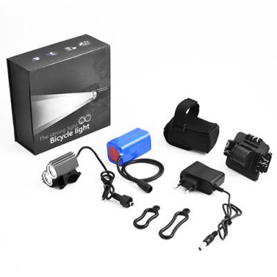 Фонарик налобный LED с акумулятором + велофара 09 2xT6