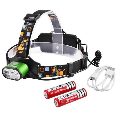 Фонарик налобный LED с акумуляторами и зарядкой USB 2128