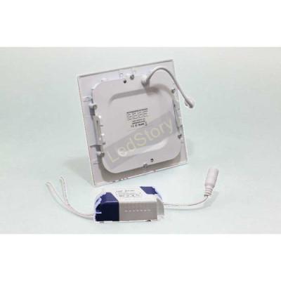 Светодиодный светильник 6W квадрат aluminum 6500К