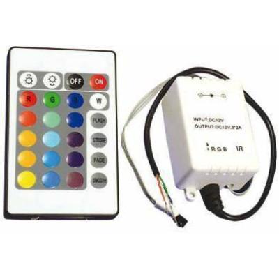 Контроллеры RGB IR 144W 12А 12V 24 кнопки