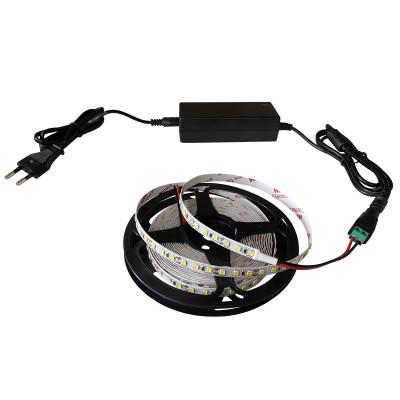 Набор светодиодной ленты SMD 2835 (120 LED/m) IP20 нейтральный белый 5м + блок питания + коннектор