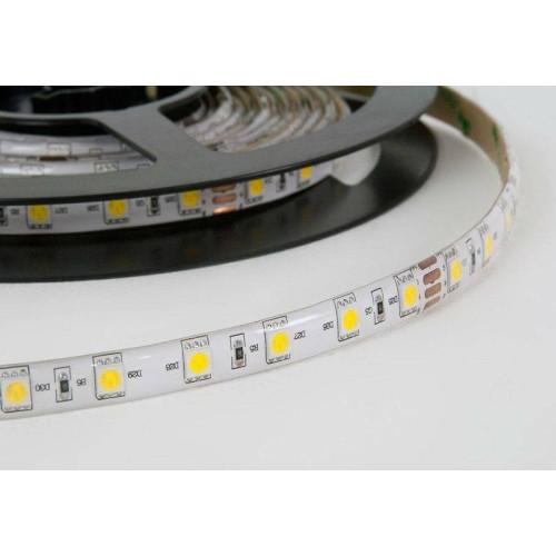 Светодиодная лента 12V PROLUM 5050 60 д.м. PRO (IP20). Белая 5500К.(цена за 1 м)