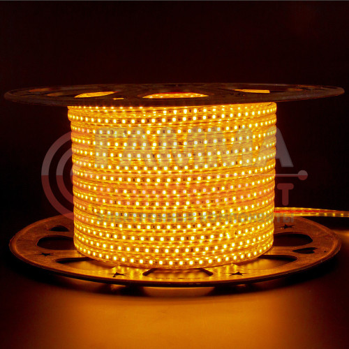 Светодиодная лента AVT-120B2835-220V-4W/m IP65 5mm желтый (цена за 1 м)