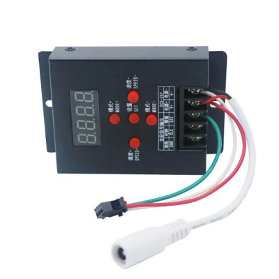 Контроллер SPI LED SMART T-500 +256MB SD карта, 5-24V, 8W, 3 канала 5A