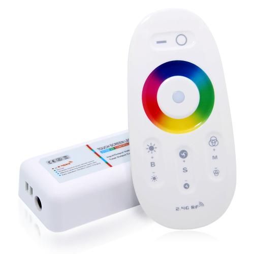 Контроллеры RGB 2.4G RF 12-24V TOUCH 216W 18A с сенсорным пультом