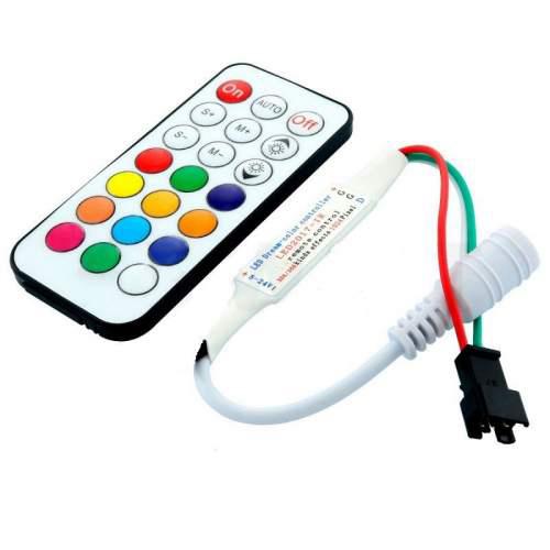 Контроллеры SPI smart LED2017- R DC5-24V (21 кнопка) WS2811, WS2812, WS2813,1903