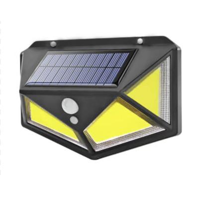 Уличный фонарь на солнечной батарее с датчиком движения Solar Wall Lamp SH100 Черный