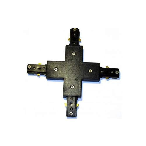 Соединитель для шинопровода трекового светильника, крестовой, черный