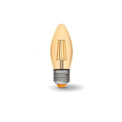 Филаментная лампа VIDEX C37FA 4W E27 2200K 220V бронза