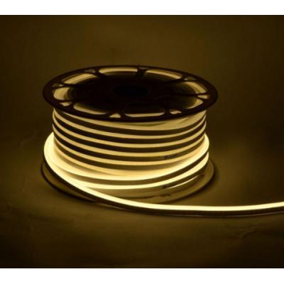Неоновая лента SILICONE 12В SMD2835 120 д.м. IP68 3000К 8х16мм белый теплый (цена 1м)