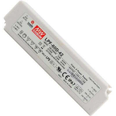 Драйвер диммируемый LPF-60D-42 42V 60.06W 1.43А IP67 Mean Well