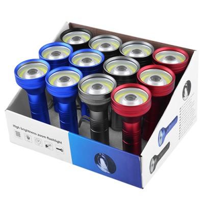 Светодиодные фонарики 733 COB+1LM под батарейки 3ААA/аккумулятор