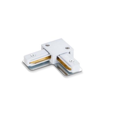 Соединитель для шинопровода однофазного прямоугольного трекового, угловой, белый Videx