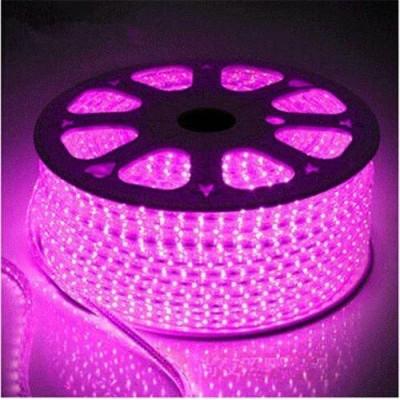 Светодиодная лента 220V SMD 2835 48д.м. IP65 розовый 6мм (цена за 1 м) От 10м МИГАЮЩАЯ