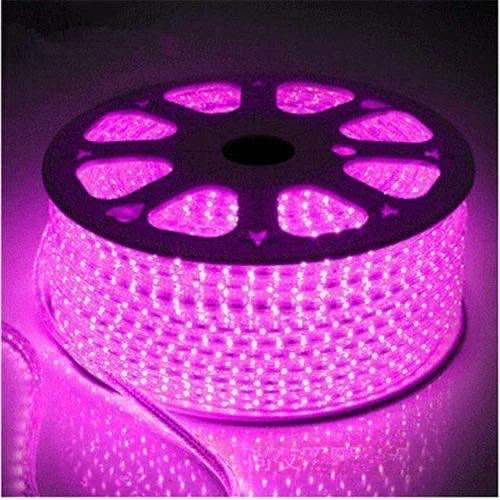 Светодиодная лента 220Вольт розовый IP65 48д/м 6мм (цена за 1 м) От 10м, МИГАЮЩАЯ