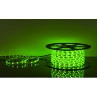 Светодиодная лента 220Вольт зеленый IP65 48д/м 6мм (цена за 1 м) От 10м