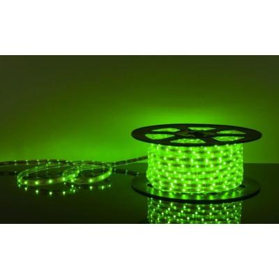 Светодиодная лента 220V SMD 2835 48 д.м. IP65 зеленый 6мм (цена за 1 м) От 10м МИГАЮЩАЯ