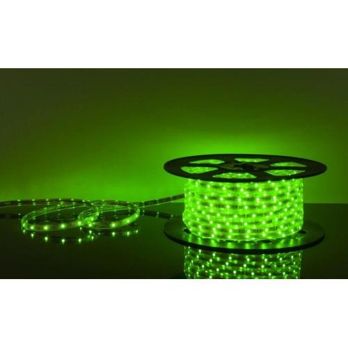Светодиодная лента 220Вольт зеленый IP65 48д/м 6мм (цена за 1 м) От 10м,МИГАЮЩАЯ