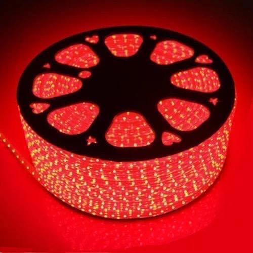 Светодиодная лента 220Вольт красный IP65 48д/м 6мм (цена за 1 м) От 10м ,МИГАЮЩАЯ