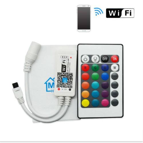 Контроллеры RGB Wi-Fi 12A 144W УПРАВЛЯЕМЫЙ СМАРТФОНОМ+пульт на 24 кнопки