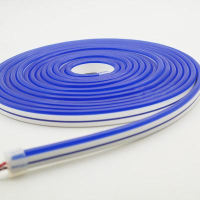 Неоновая лента AVT 120R2835-12V-6W/m IP65 6*12mm SILICONE  синий (цена за 1 м)