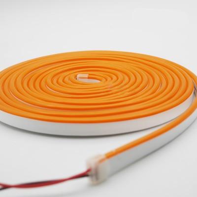 Неоновая лента AVT 120R2835-12V-6W/m IP65 6*12mm SILICONE оранжевый (цена за 1 м)