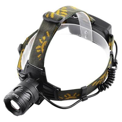 Фонарик налобный LED с акумулятором на лоб 6813 2 XPE белый и желтый
