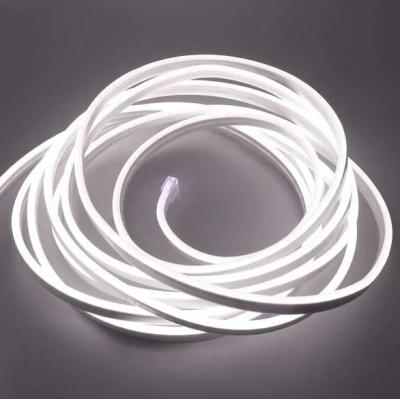 Неоновая лента 2835-12V-120-10W/m IP68 6*12mm SILICONE нейтральный белый (цена за 1 м)